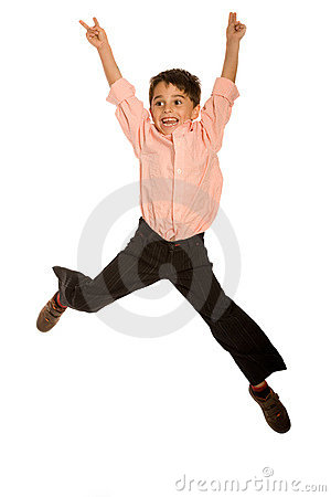 Free Young Kid Jumping Stock Photo - 11502450