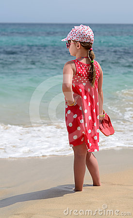 Young lady on the beach