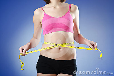 Young lady - dieting concept