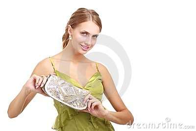 Young lady with handbag