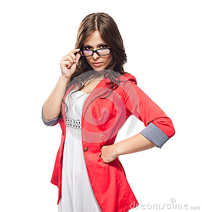 Free Young Lady In Glasses Stock Photos - 24879743