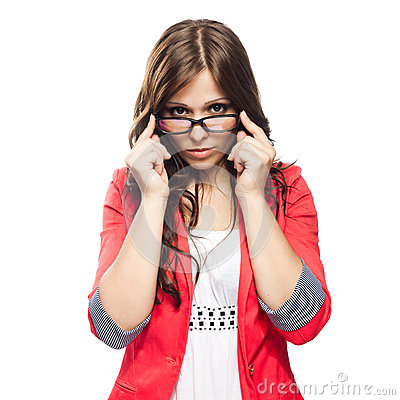 Free Young Lady In Glasses Stock Photo - 25272810