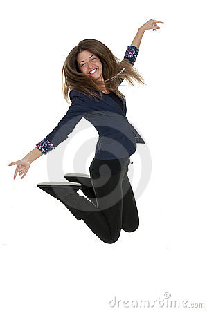 Young lady jump