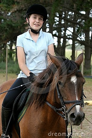 Free Young Lady On Pony Royalty Free Stock Photography - 4120287