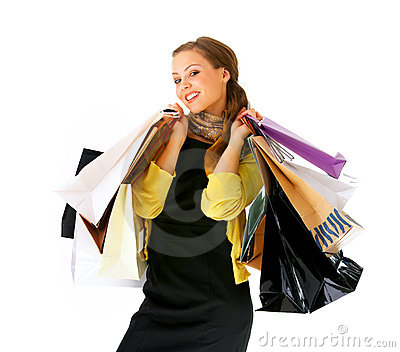 Young lady out shopping