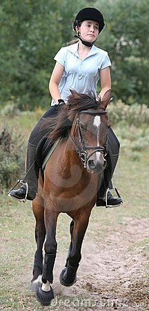 Young Lady on Pony
