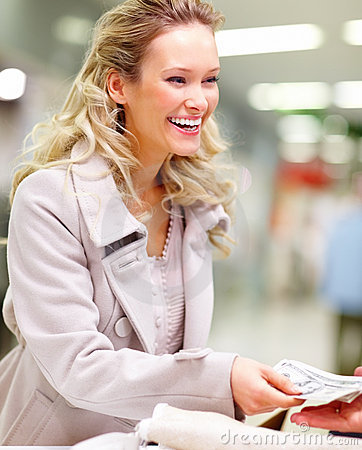 Young Lady At Supermarket Checkout Counter Royalty Free Stock Images - Image: 7609479