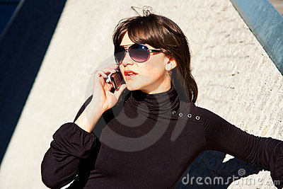 Young Lady Talking On A Phone Royalty Free Stock Photos - Image: 9249828