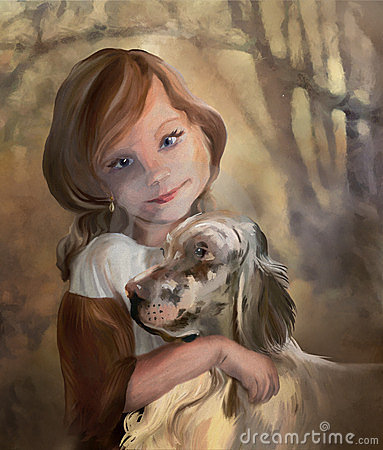 Free Young Lady With Dog Royalty Free Stock Photo - 24192655