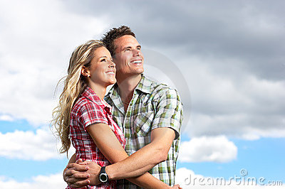 Young love couple