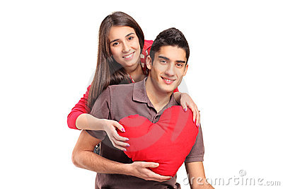 Young loving couple in an embrace