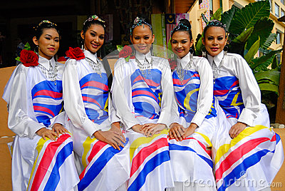 Young malay girls Editorial Photo