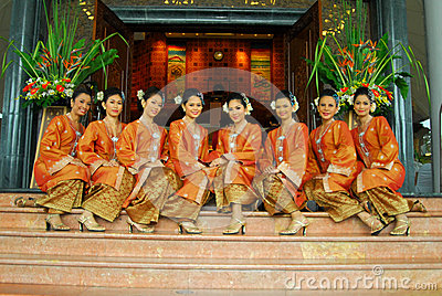 Young malay teens Editorial Stock Photo
