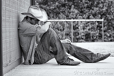 A Young Male Cowboy Stock Image - Image: 21084781