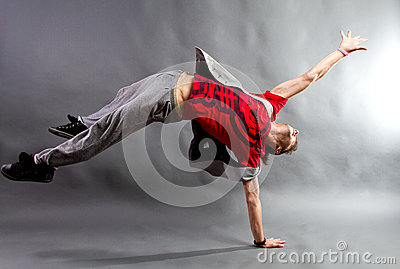 Young male dancer