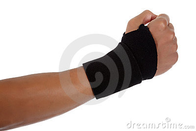 Young male hand, African American