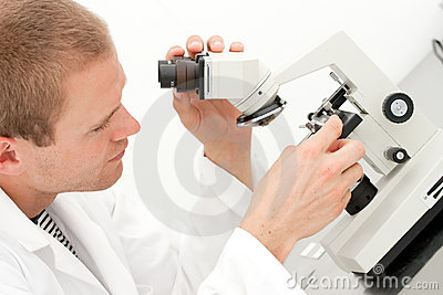 Young male lab technician