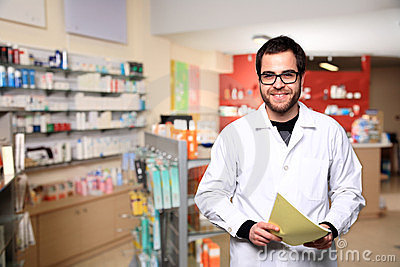 Young male pharmacist