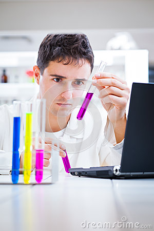 Young male researcher in a lab