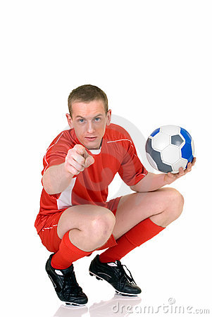 Young male soccer player