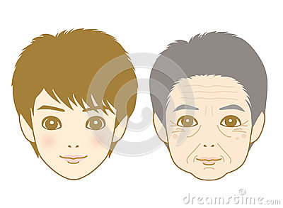 Young man and aged man