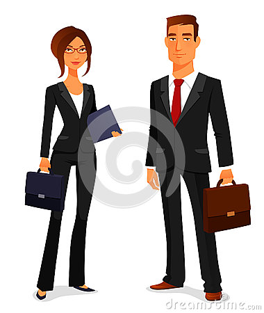 Free Young Man And Woman In Business Suit Royalty Free Stock Image - 43765756