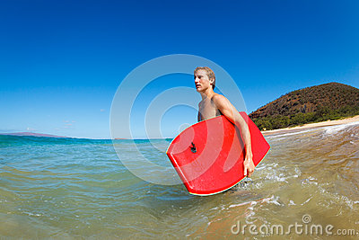 Young Man with Boogie Board