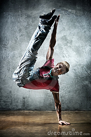 Young man break dance