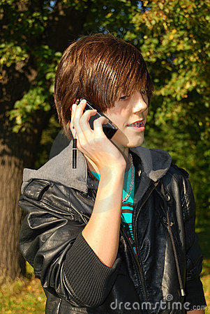 Young man calling