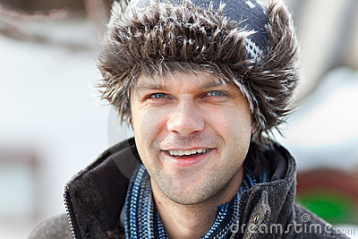 Young man with cap outdoor