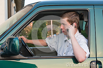 Young man in a car 4