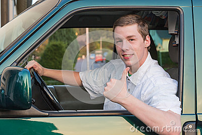 Young man in a car 2