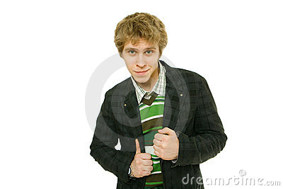 Young Man In Checkered Jacket