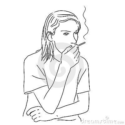 Young man with a cigarette