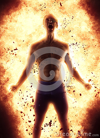 Free Young Man Creating An Explosion Of Energy Royalty Free Stock Photos - 88142538