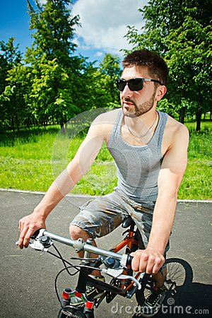 Young man cyclist