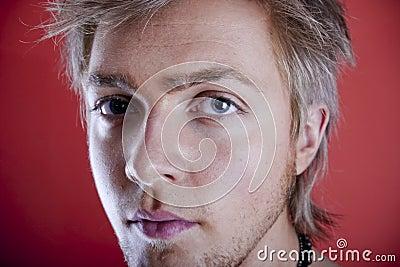 Young man face