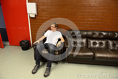 Young man has a rest