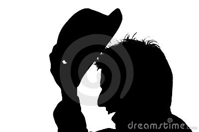 Young man with hat � silhouette