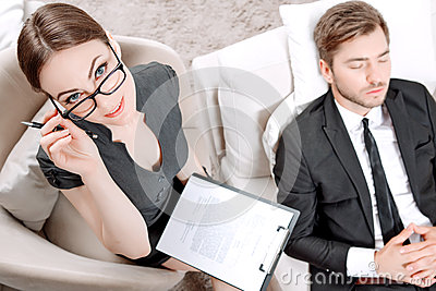 Young Man With His Psychologist Stock Photo - Image: 55595925