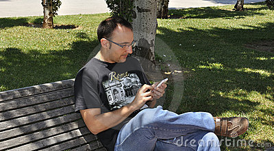 Young man with his smartphone