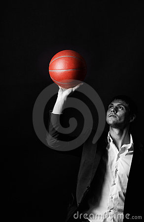 Young Man Holding Basketball Ball Royalty Free Stock Photo - Image: 12791315