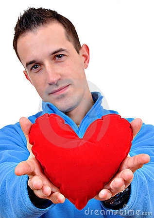 Free Young Man Holding Heart Royalty Free Stock Images - 18051469