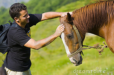 Young Man and Horse