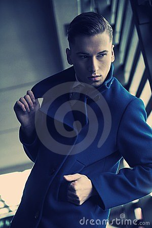 Free Young Man In A Fashionable Coat Stock Images - 24191524