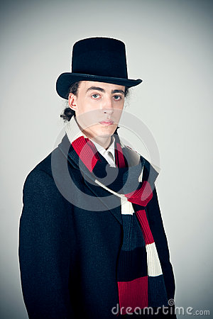 Free Young Man In Top-hat Royalty Free Stock Photos - 25344148