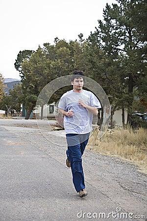 Young man jogging