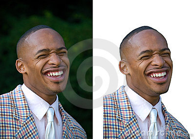 Young Man Laughing, African American