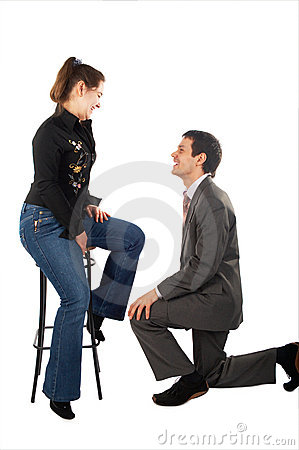 Free Young Man Makes Proposal Stock Photos - 5523523