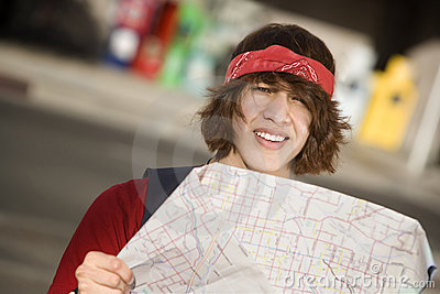 Young Man with a Map
